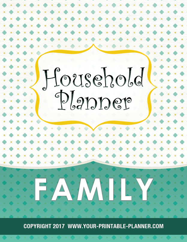 Complete Household Notebook Family Pages Cover Page
