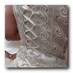 wedding gown back details