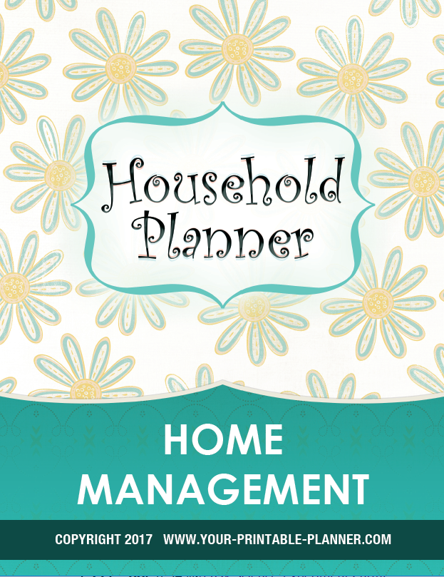Home Management Printable Cover Page for the Complete Household Notebook 2017