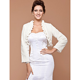 Long Sleeve Feather/ Fur With Ruffles Wedding/ Party Jackets/ Wraps More Colors Available