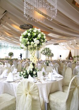 wedding table settings set up by a professional bridal consultant