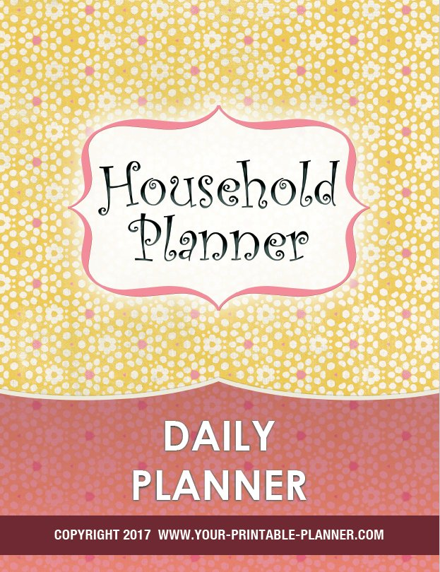 Cover page for the Daily Planner from www.your-printable-planner.com